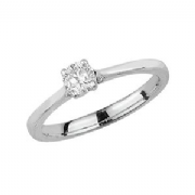 Platinum 0.35ct Solitaire Diamond Ring Four Claw V style mount